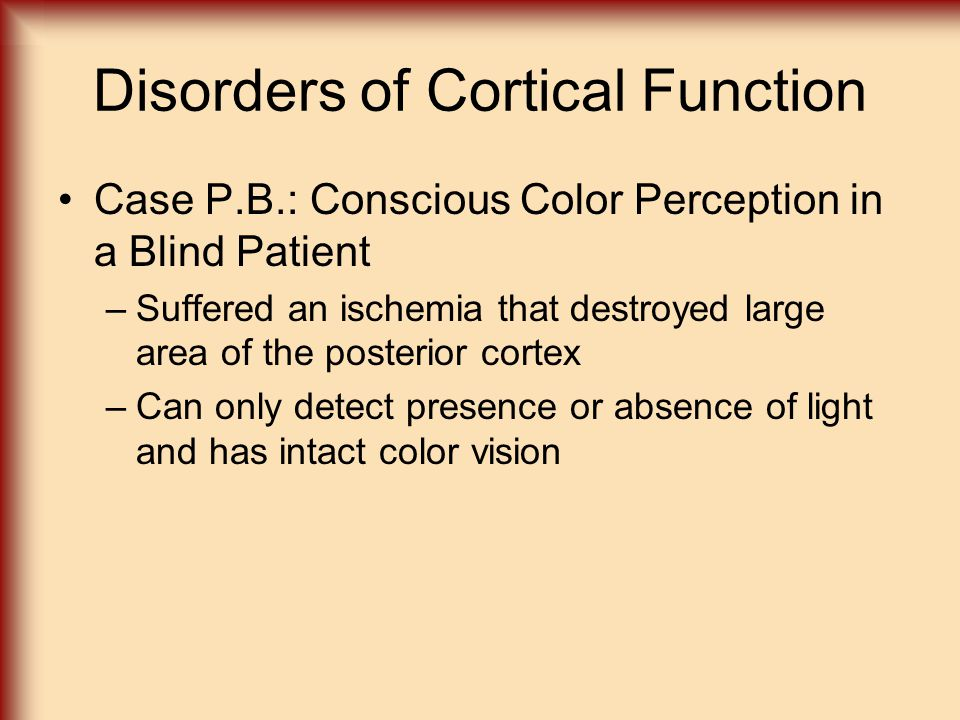 Disorders of Cortical Function