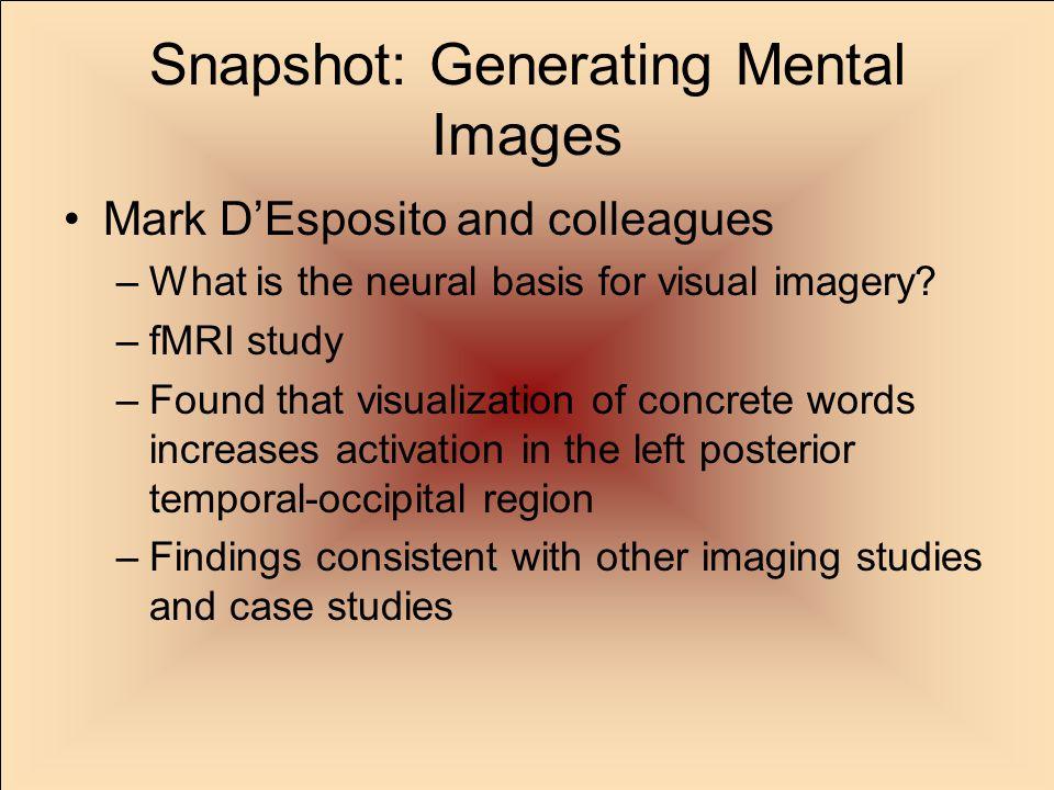Snapshot: Generating Mental Images