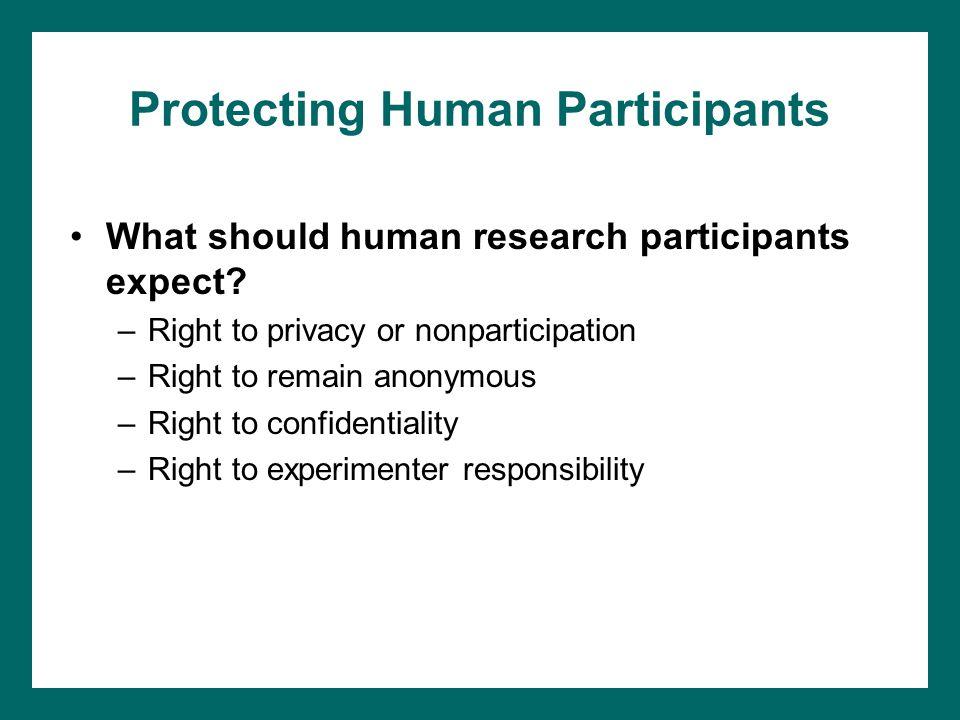 Protecting Human Participants