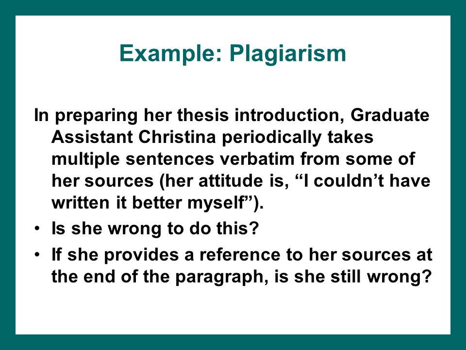 Example: Plagiarism