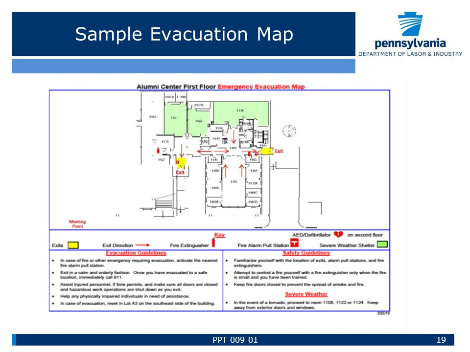 Sample Evacuation Map PPT-009-01