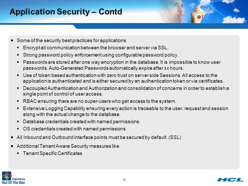 Application Security – Contd