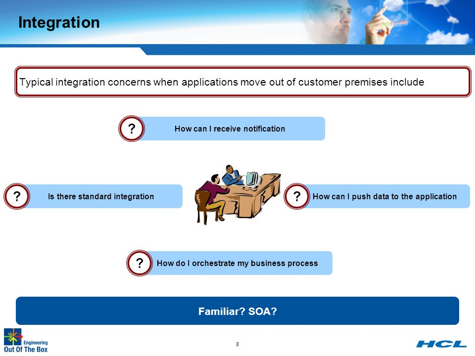 Integration Typical integration concerns when applications move out of customer premises include. How can I receive notification.