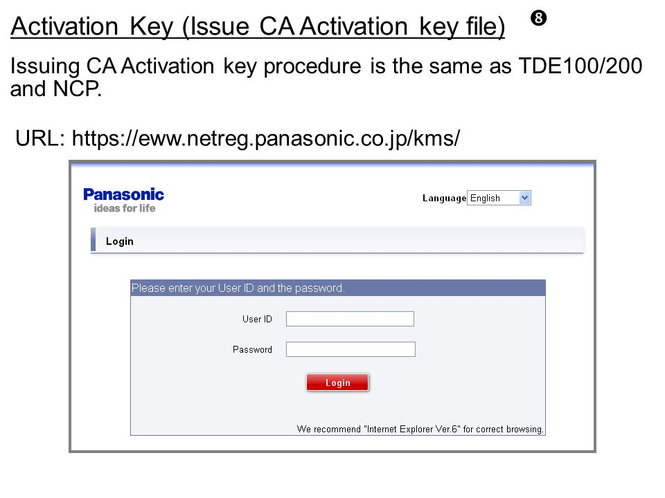 Activation Key (Issue CA Activation key file)