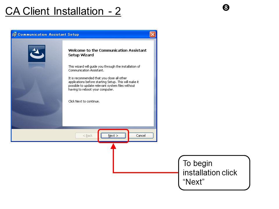 CA Client Installation - 2