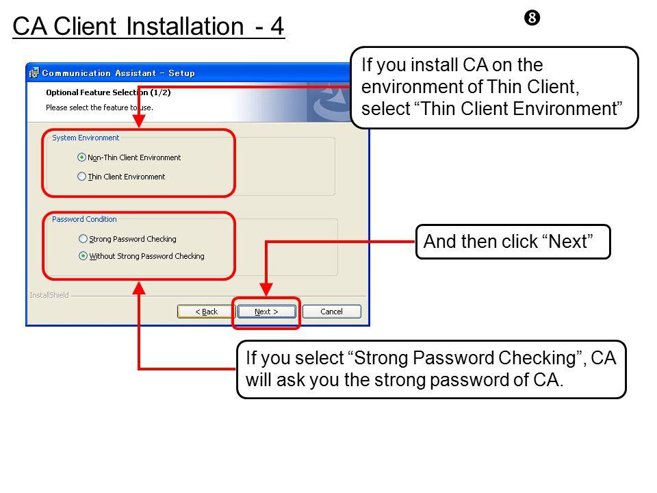 CA Client Installation - 4