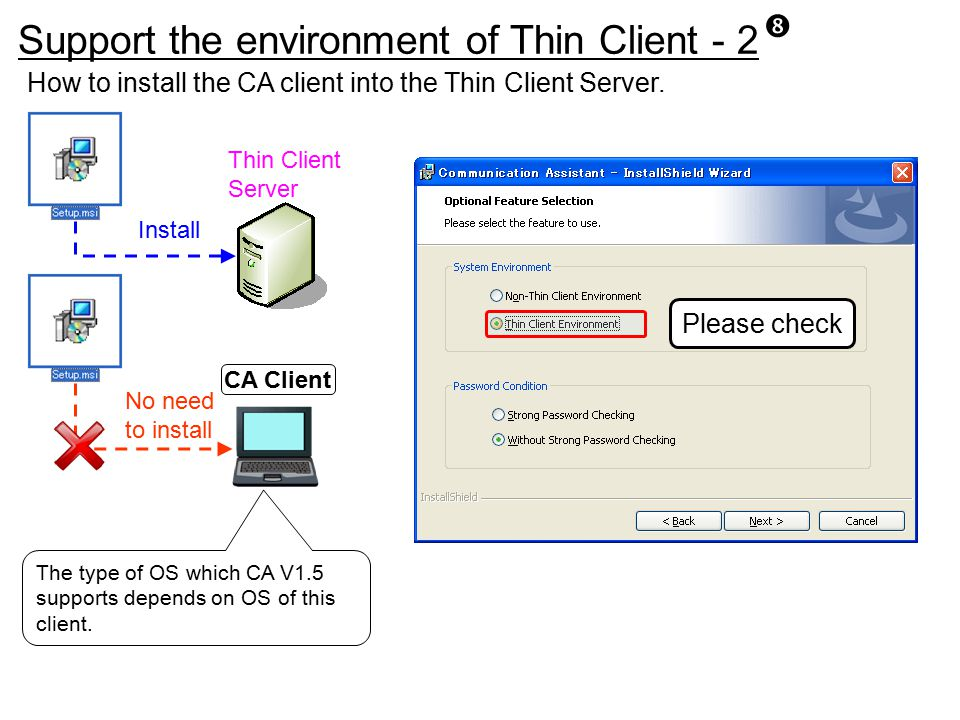 Support the environment of Thin Client - 2