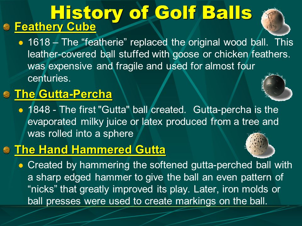 History of Golf Balls Feathery Cube The Gutta-Percha