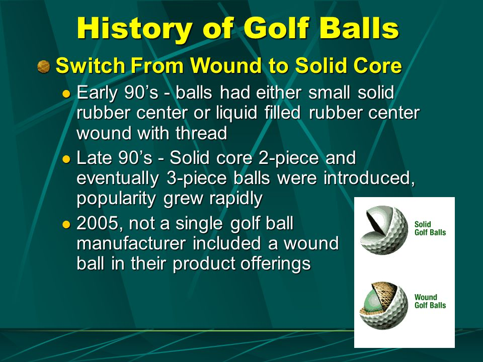 History of Golf Balls Switch From Wound to Solid Core