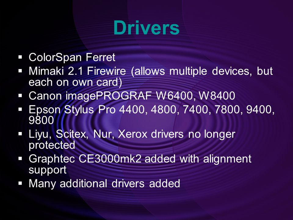 Drivers ColorSpan Ferret