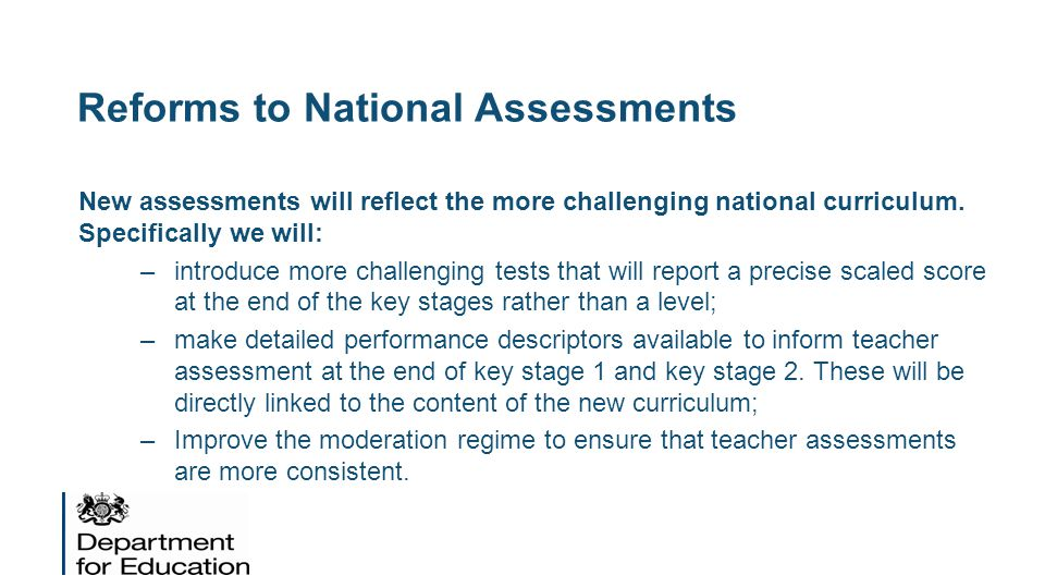 Reforms to National Assessments