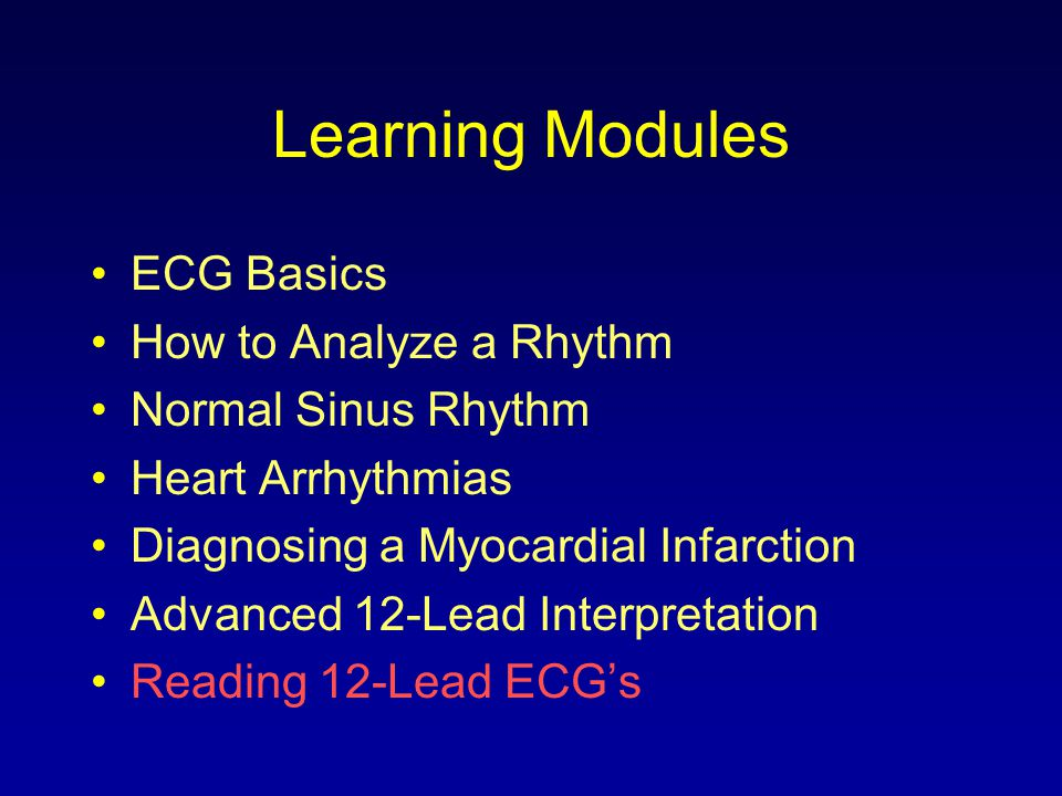 Learning Modules ECG Basics How to Analyze a Rhythm