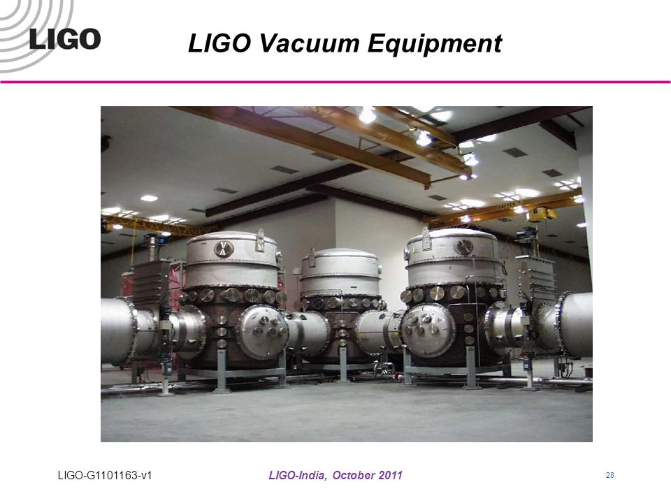 LIGO Vacuum Equipment LIGO-G1101163-v1 LIGO-India, October 2011