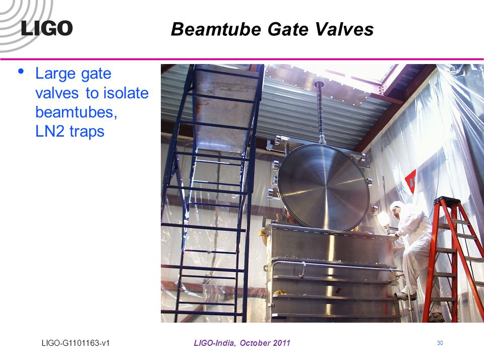 Beamtube Gate Valves Large gate valves to isolate beamtubes, LN2 traps