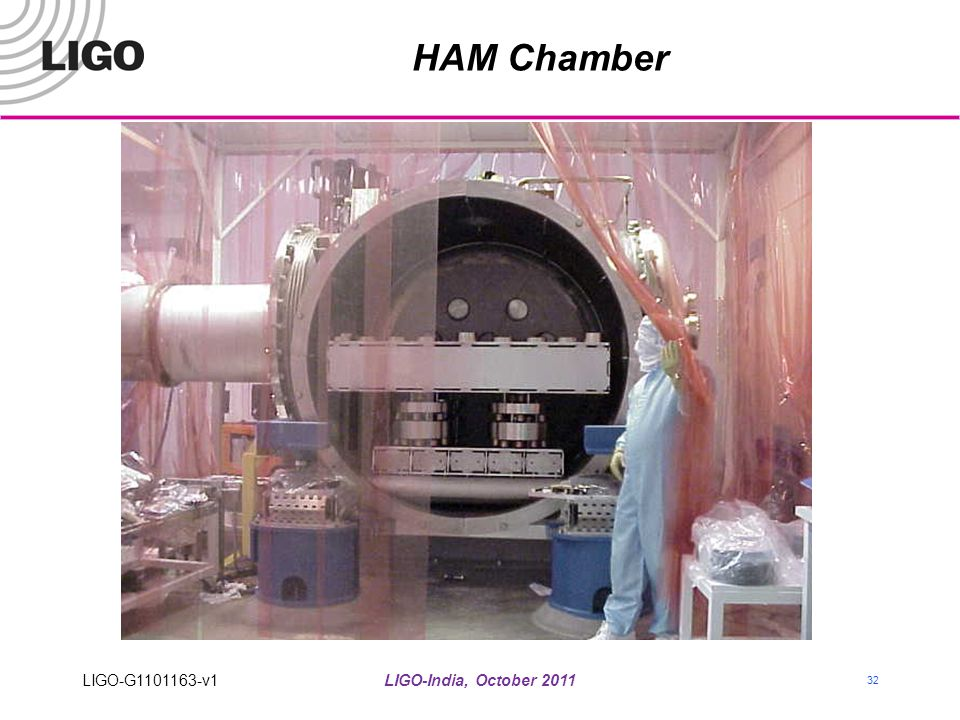 HAM Chamber LIGO-G1101163-v1 LIGO-India, October 2011