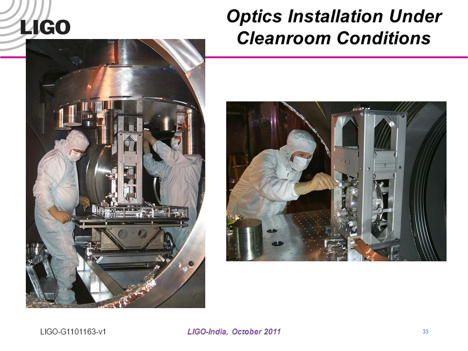 Optics Installation Under Cleanroom Conditions