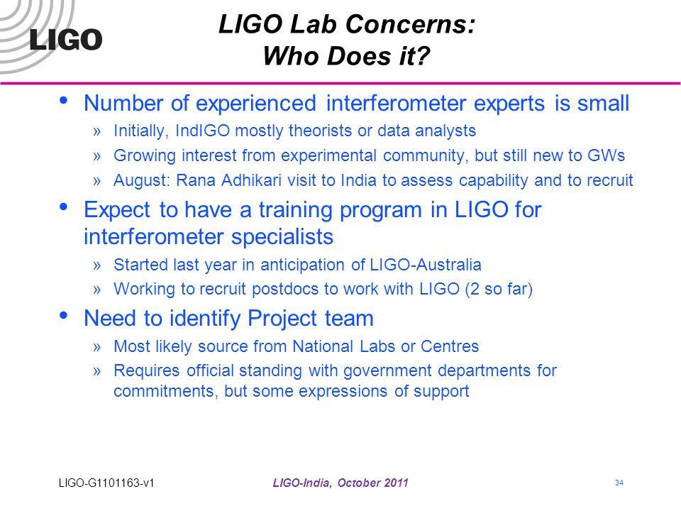 LIGO Lab Concerns: Who Does it