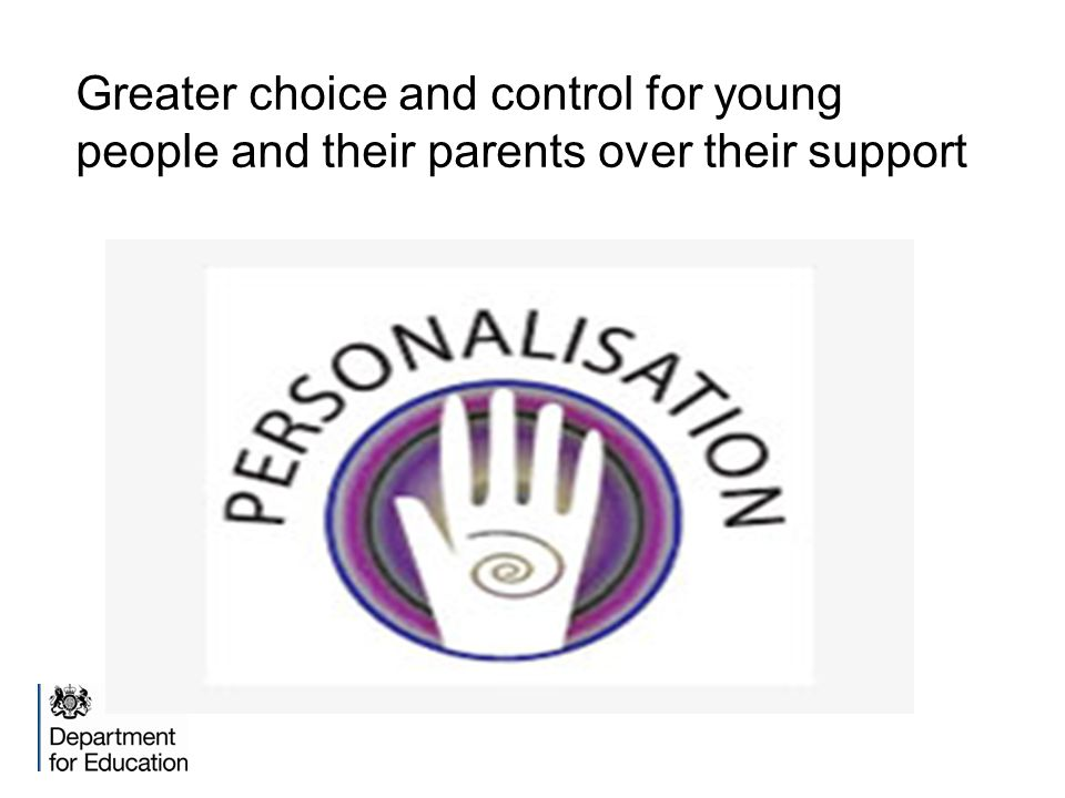 Greater choice and control for young people and their parents over their support