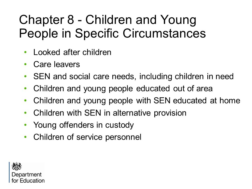 Chapter 8 - Children and Young People in Specific Circumstances