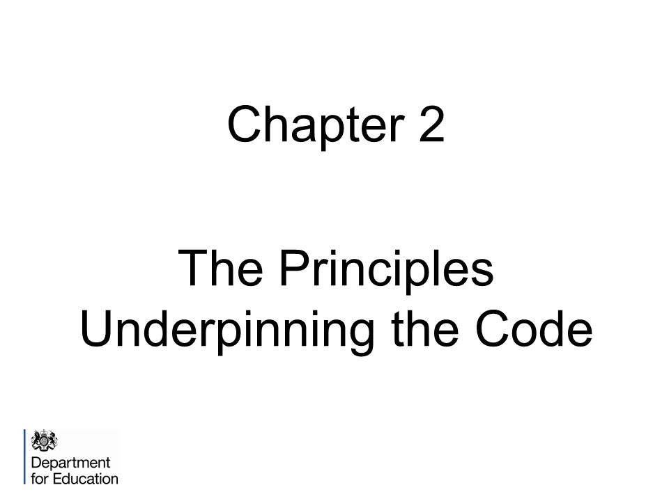 The Principles Underpinning the Code