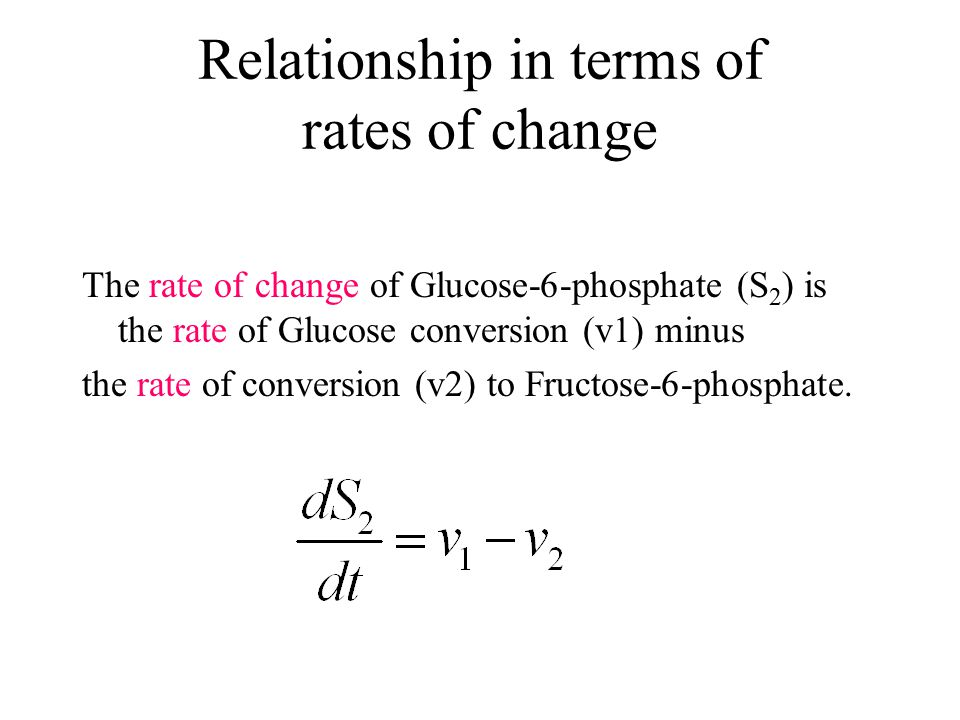 Relationship in terms of rates of change