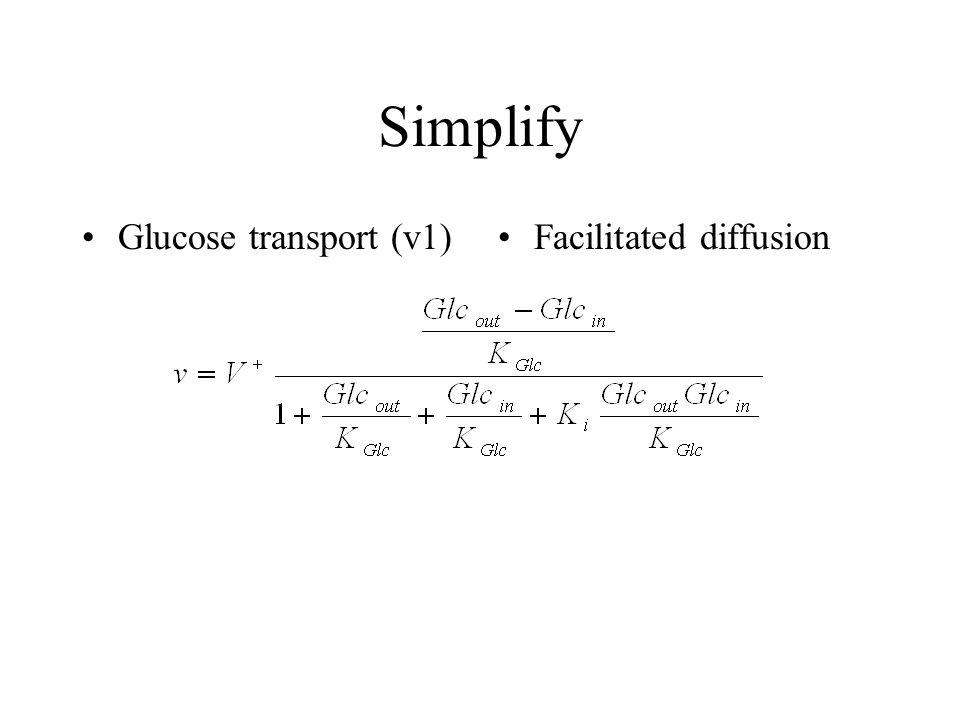 Simplify Glucose transport (v1) Facilitated diffusion