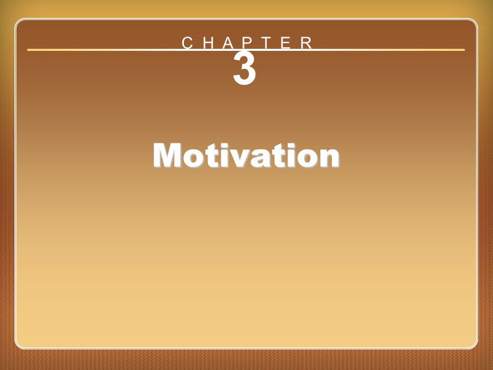C H A P T E R 3 Motivation Chapter 3: Motivation