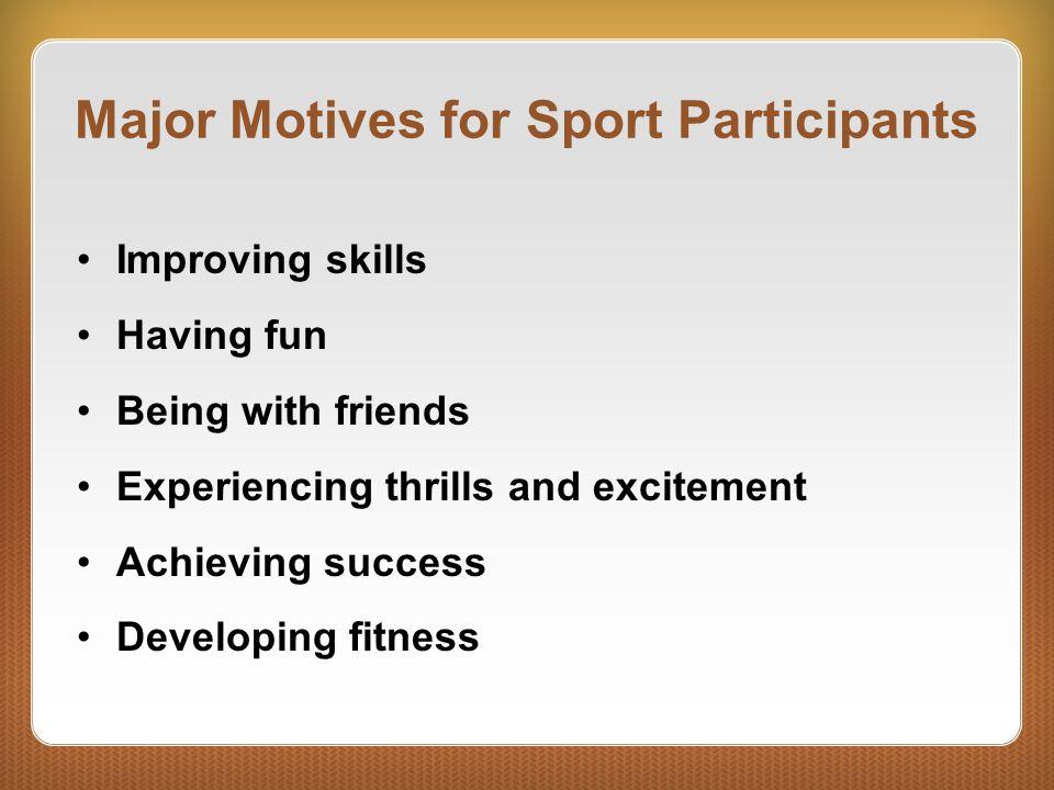 Major Motives for Sport Participants