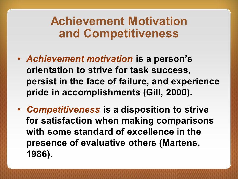 Achievement Motivation and Competitiveness