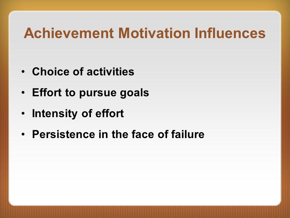 Achievement Motivation Influences