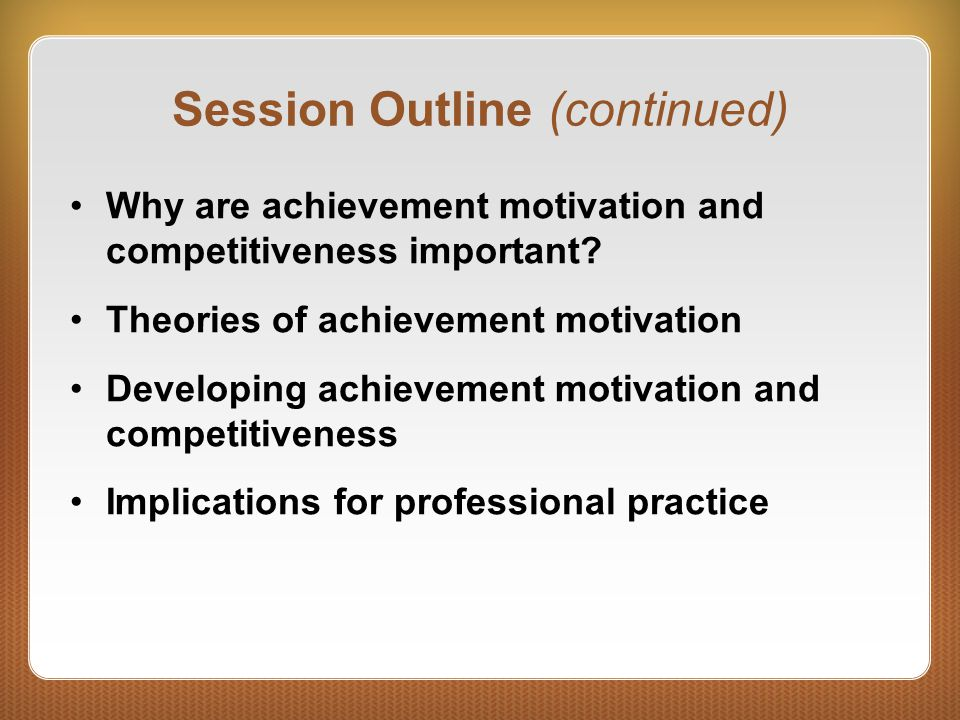 Session Outline (continued)