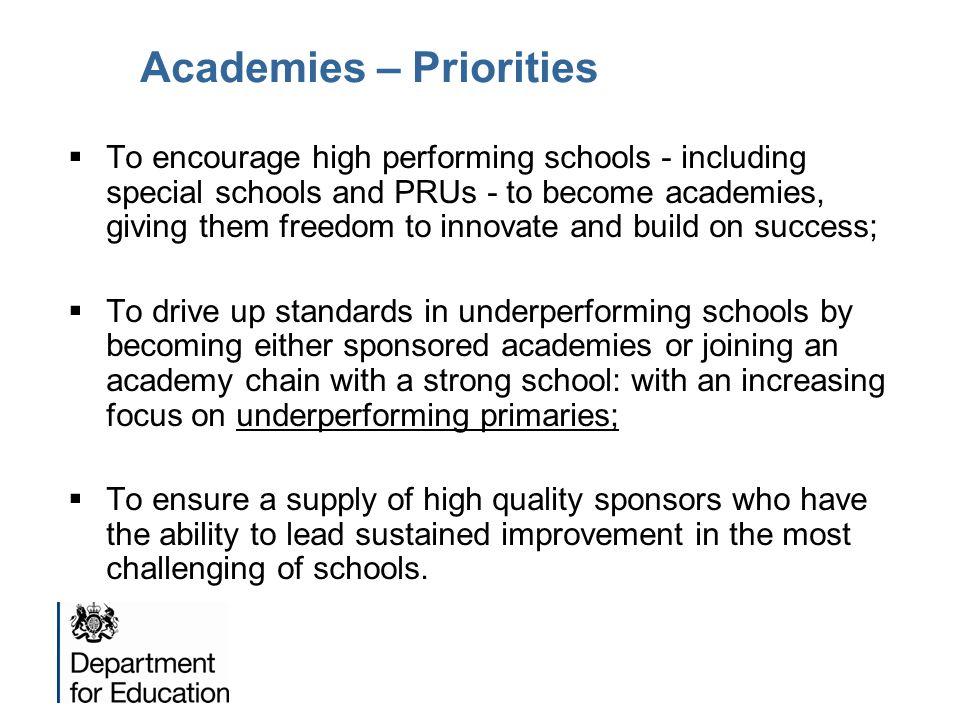 Academies – Priorities