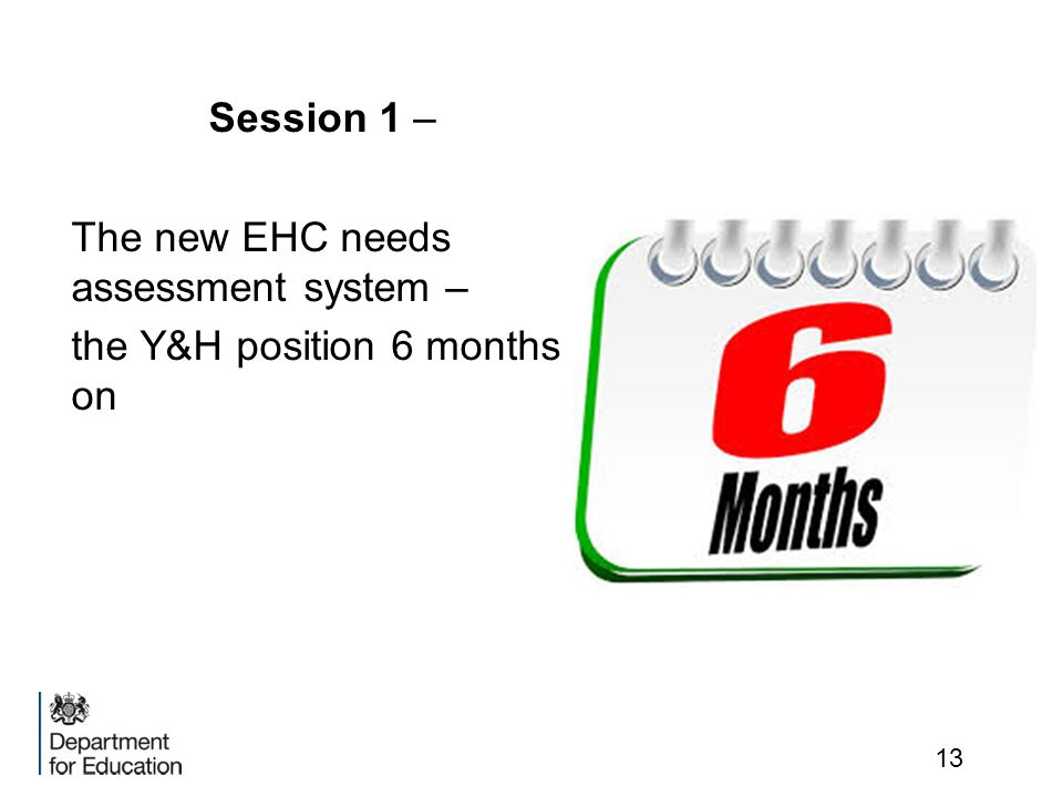 Session 1 – The new EHC needs assessment system – the Y&H position 6 months on