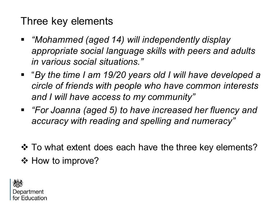 Three key elements