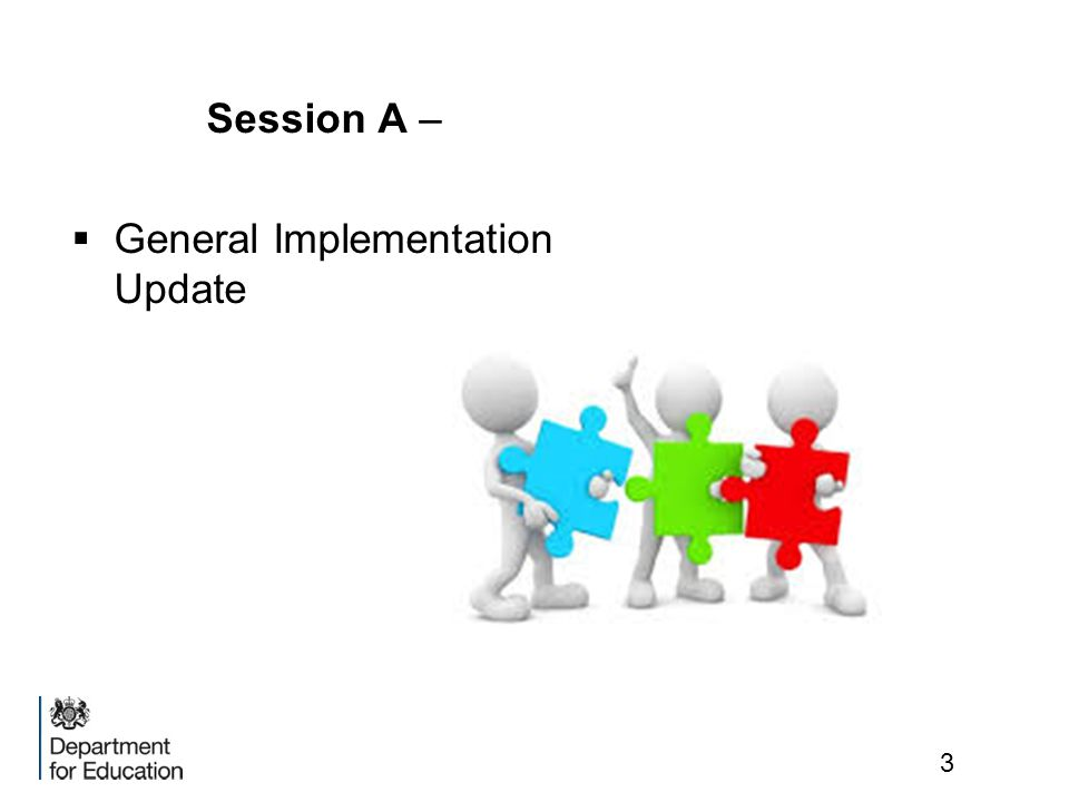Session A – General Implementation Update