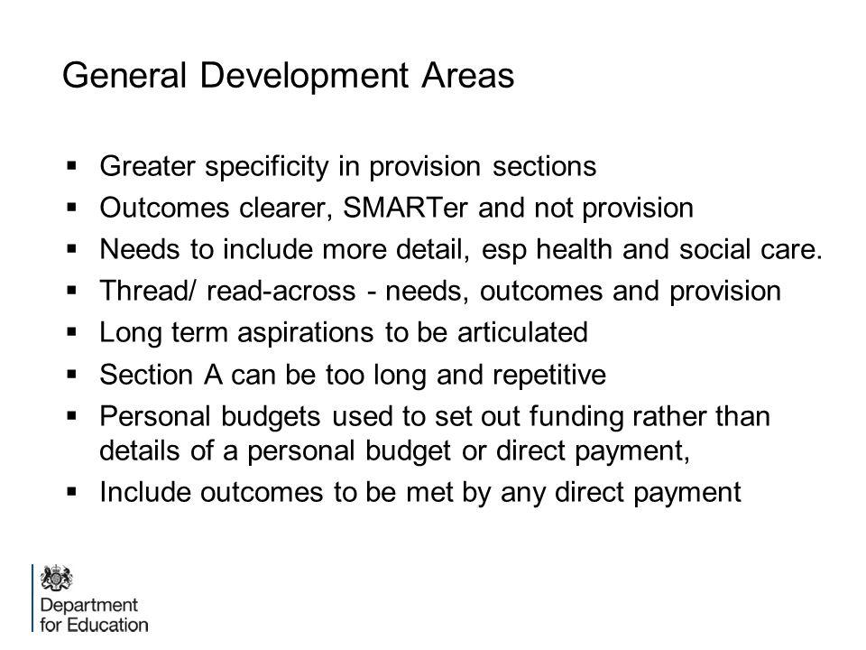 General Development Areas