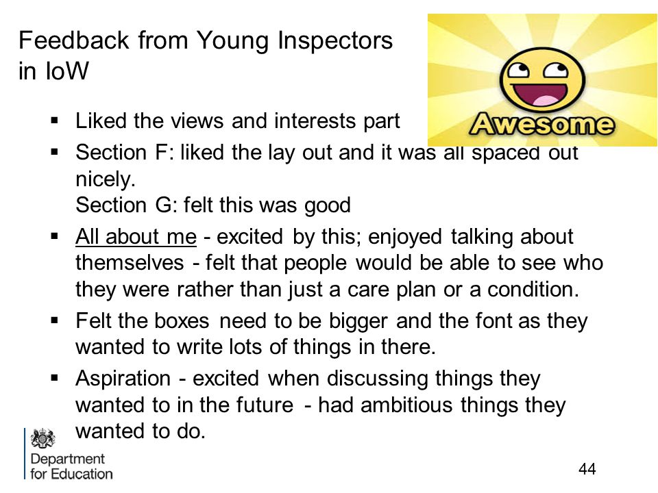 Feedback from Young Inspectors in IoW