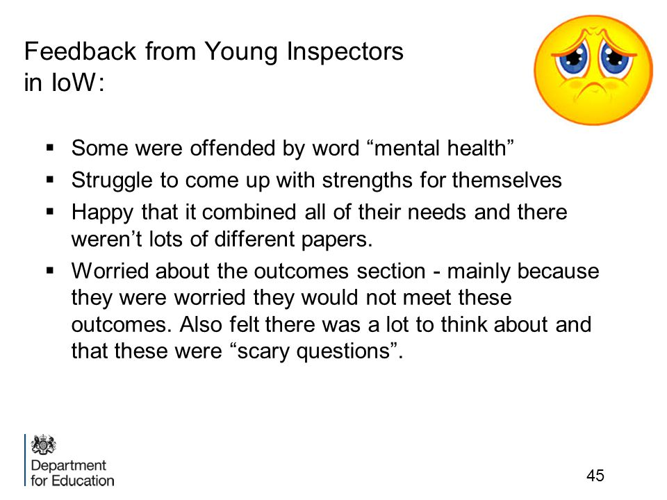 Feedback from Young Inspectors in IoW: