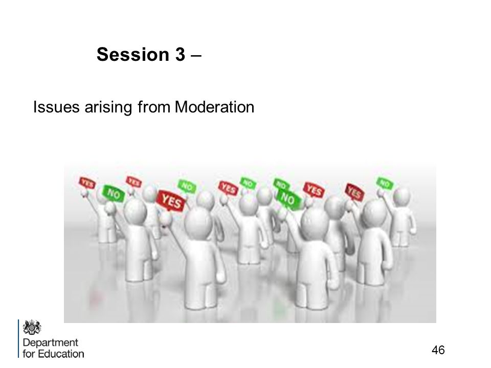 Session 3 – Issues arising from Moderation