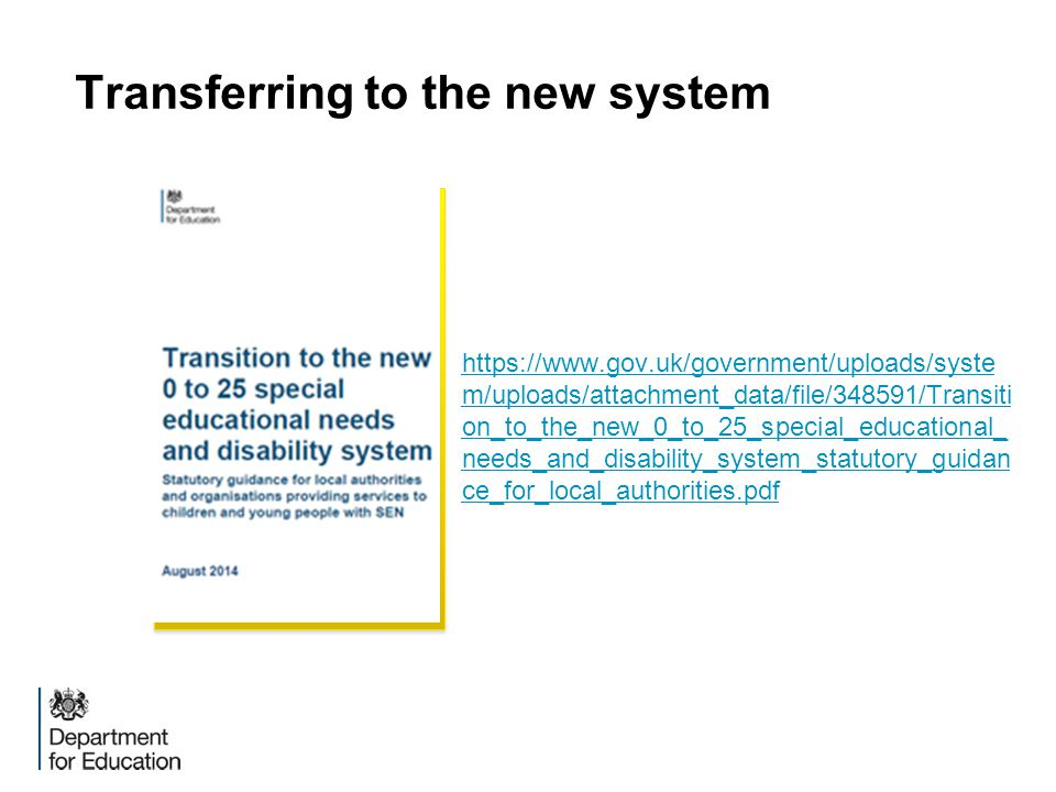 Transferring to the new system