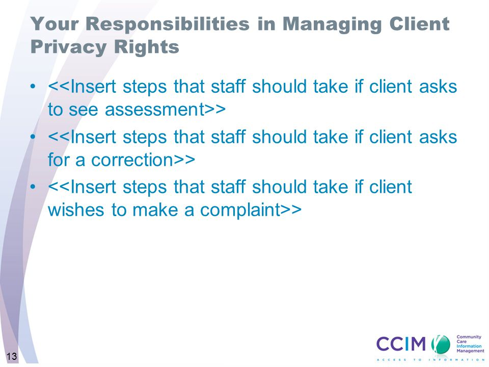 Your Responsibilities in Managing Client Privacy Rights