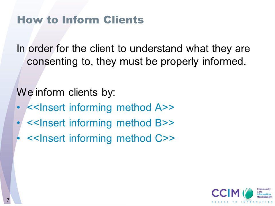 <<Insert informing method A>>