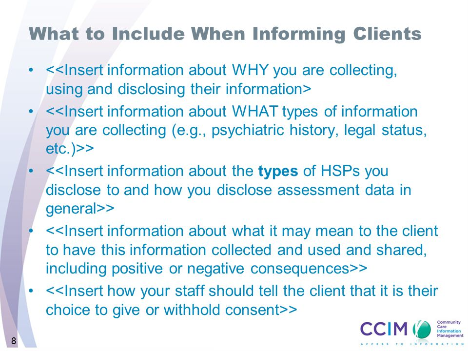 What to Include When Informing Clients