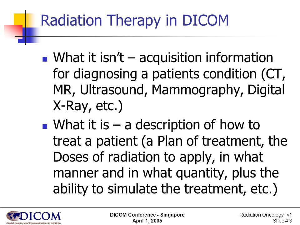 Radiation Therapy in DICOM