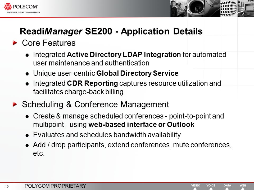 ReadiManager SE200 - Application Details