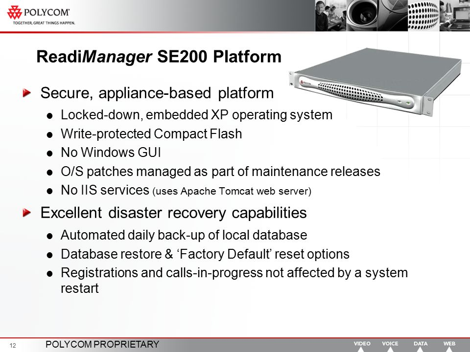 ReadiManager SE200 Platform