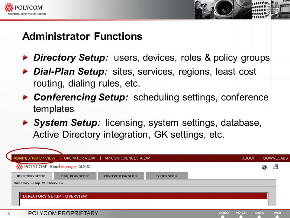 Administrator Functions
