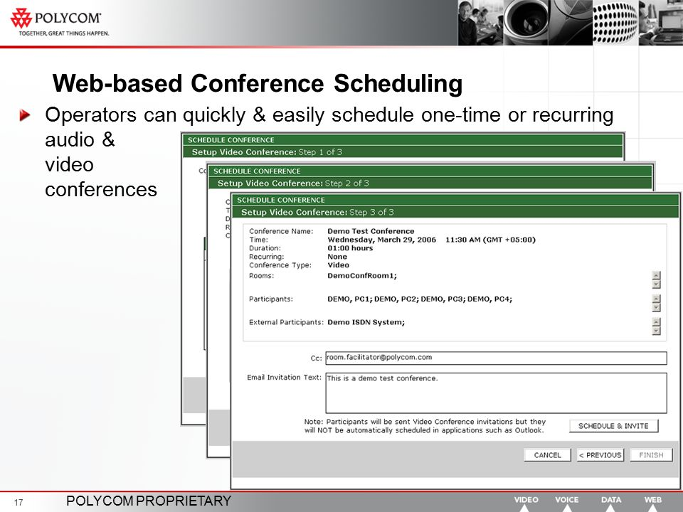 Web-based Conference Scheduling