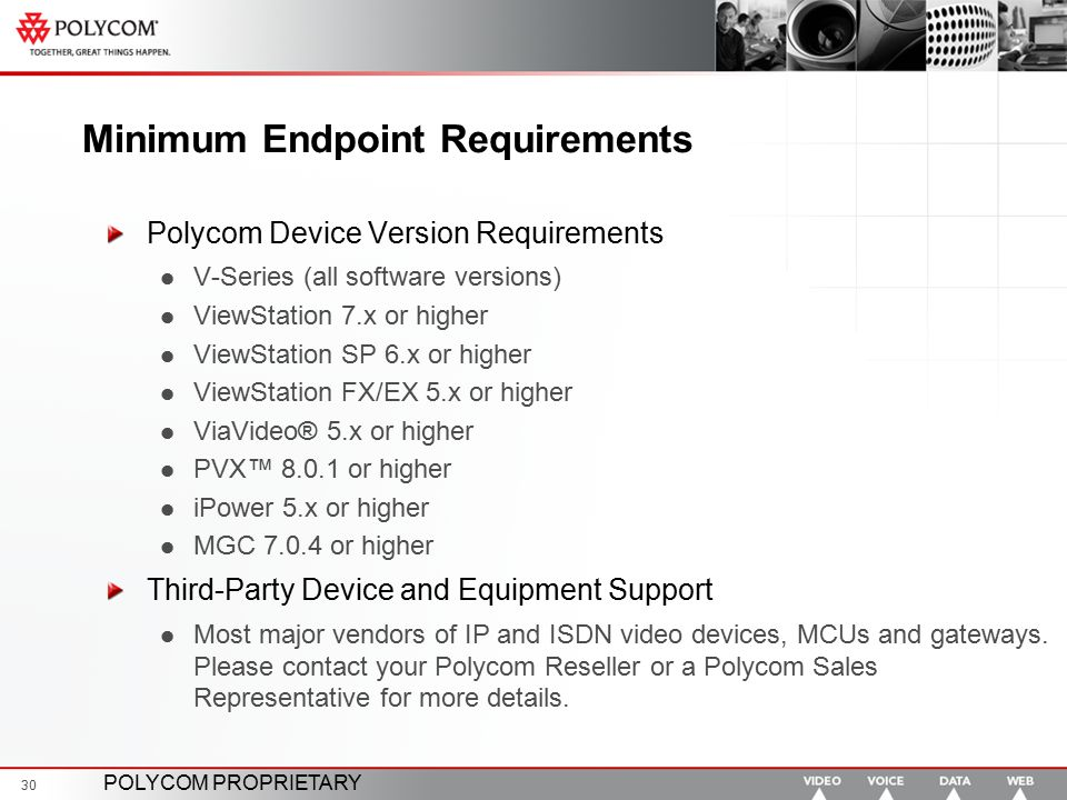 Minimum Endpoint Requirements