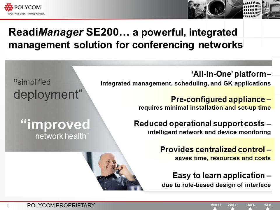 ReadiManager SE200… a powerful, integrated management solution for conferencing networks